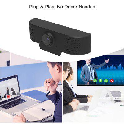 Webcam 1080p HD Video Conference Camera USB Live Camera Built In Microphone for PC/Laptop