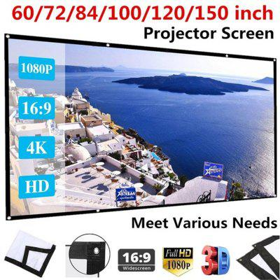 Portable Foldable Projector Screen Full HD 1080P Home Theater 3D Outdoor Cinema Projection Screen
