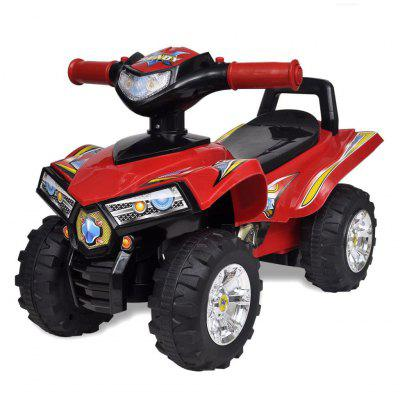 Red childrens car quad with sound and light