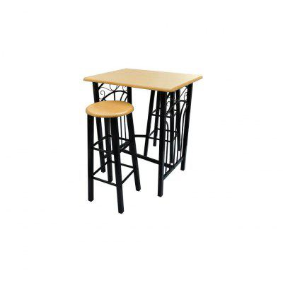 reakfast Dinner Table Dining Set MDF with Black