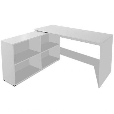 office Corner Desk with 4 Shelves