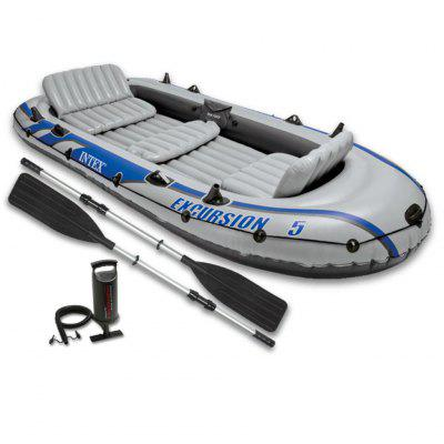INTEXExcursion 5 Set Inflatable Boat with Oars and Pump