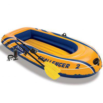 intex Challenger 2 Set Inflatable Boat with Oars and Pump