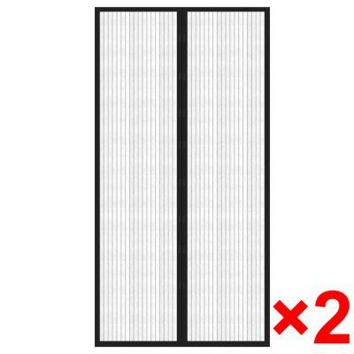 vidaXL Insect Door Curtain 210 x 100 cm 2 pcs Magnet Black