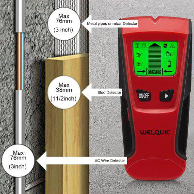 WELQUIC 3 in 1 Stud Center Finder metal and AC Live Wire Detector