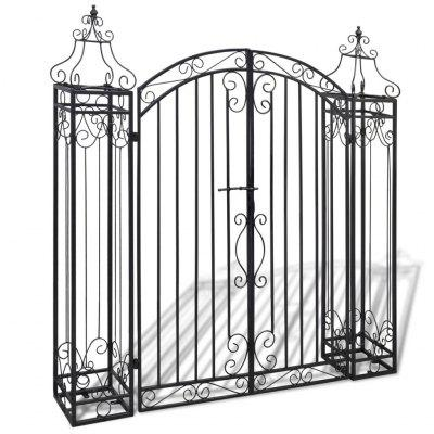 Ornamental Garden Gate Wrought Iron 122x20.5x134 cm