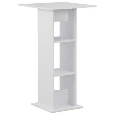 vidaXL Bar Table White 60x60x110 cm