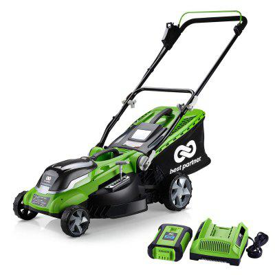 Best Partner 40V Max Lithium Cordless Lawn Mower 16-Inch 4.0AH Battery and Charger Include