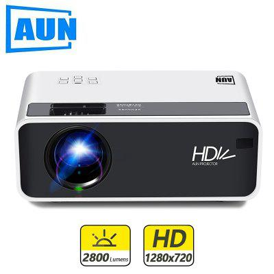 AUN MINI Projector D60 1280x720P LED ProJector for 1080P Home Cinema 3D Video Beamer