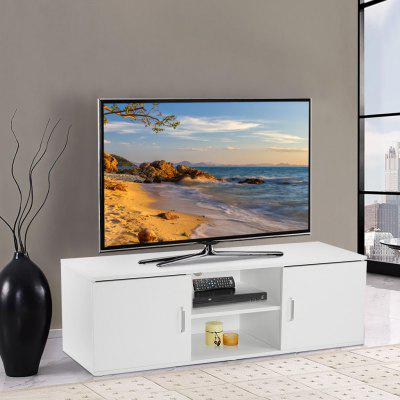 LANGRIA TV Cabinet Stand with Doors Tier Open Shelf and Ample Flat Surface for Home Living Room