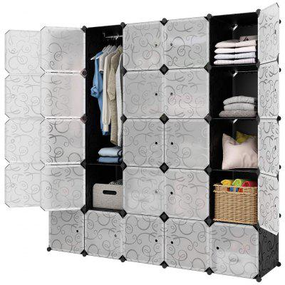 LANGRIA 30 Cube DIY Modular Shelving Storage Organizer Extra Large Wardrobe for Shoes Clothes