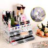 LANGRIA Clear Acrylic Makeup Organizer 2 Pieces Cosmetic and Jewelry Display Case Tray Storage Box