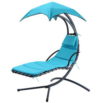 Hanging Chaise Lounge Chair Outdoor Indoor Hammock Chair Swing for Patio Beach Yard - Mint Green