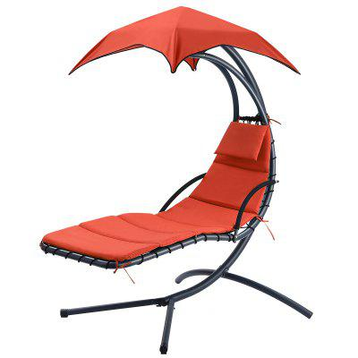 Hanging Chaise Lounge Chair Outdoor Indoor Hammock Chair Swing for Patio Beach Garden