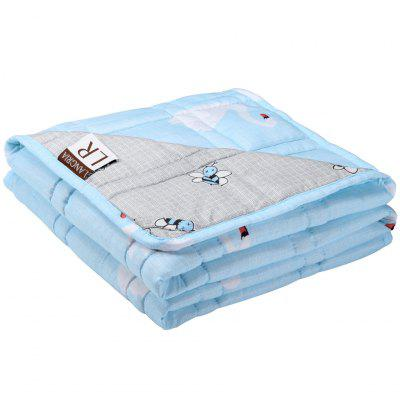 LANGRIA Weighted Blanket for Kids Cool Heavy Blanket Made of Microfiber Fabric Material - 5 lbs