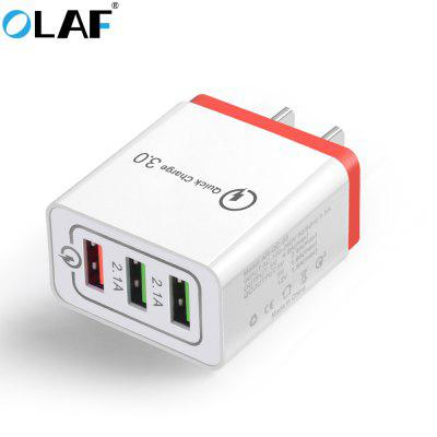 OLAF Quick Charger  QC 3.0 3-port USB Fast Charging Adapter for Xiaomi Huawei Samsung