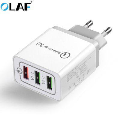 64% OFF OLAF Quick Charger QC 3.0 3-port USB Fast Charging Adapter for Xiaomi Huawei Samsung