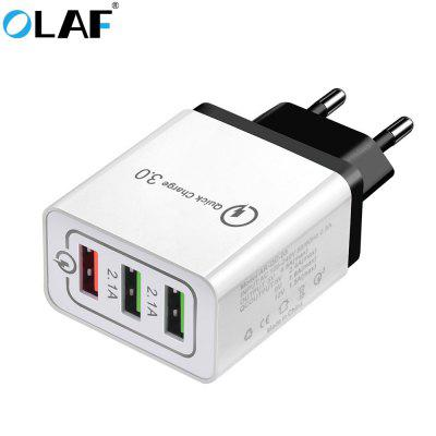 Adaptateur de charge rapide USB 3 ports OLAF Quick Charger QC 3.0 pour Xiaomi Huawei Samsung