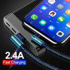 OLAF 5V 2.4A USB Type C 90 Degree Fast Charging Usb Cable Data Cord Charger For Samsung  Xiaomi