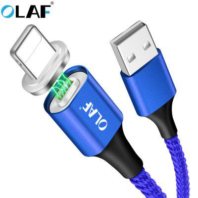 OLAF Double-Side Lighting LED Magnetic Fast Charge Type Cable For Iphone X XR XS MAX