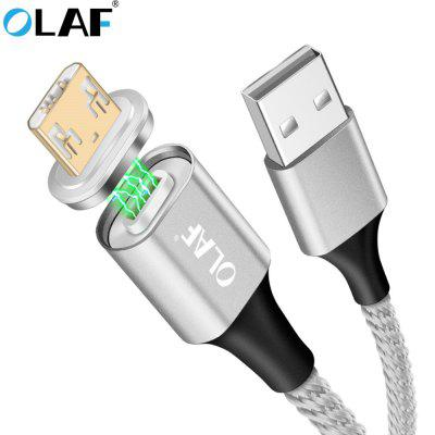 OLAF Micro USB Double-Side Lighting LED Magnetic Fast Charge Type Cable For Samsung Xiaomi