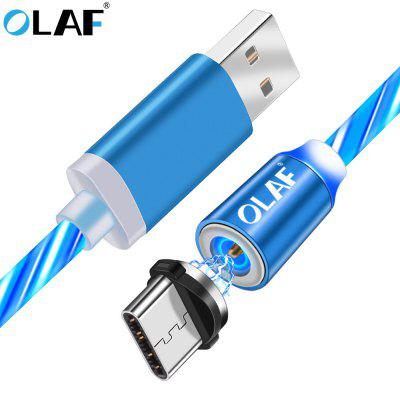 OLAF 1M Micro USB Type C Rotatable Lighting Magnetic Fast Charging Cable For Iphone Samsung Xiaomi