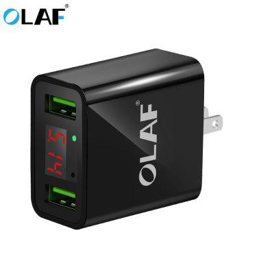 OLAF LED Display USB Charger Mobile Phone USB Charger Fast Charging Wall Charger For iPhone Samsung