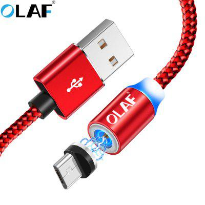 OLAF LED Type C Micro USB Fast Charge For Xiaomi iPhone Samsung Mobile Phone Magnetic Charger Cord
