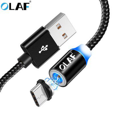 OLAF LED Type C Micro USB Fast Charge For Xiaomi For Samsung Mobile Phone Magnetic Charger Cord