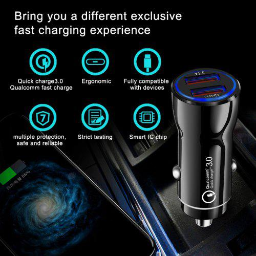 OLAF Car Charger Quick Charge 3.0 USB Fast Charger for Xiaomi  iPhone X Xr 8 Huawei Samsung S9 S8