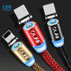 OLAF LED Type C Fast Charge For Xiaomi For Samsung Huawei Mobile Phone Magnetic Charger Cord