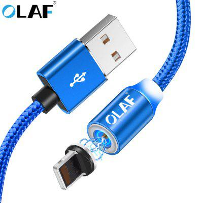 OLAF LED Nylon Fast Charging For Iphone X XR 7 8 7P 8P MAX Nylon Magnetic Cable USB