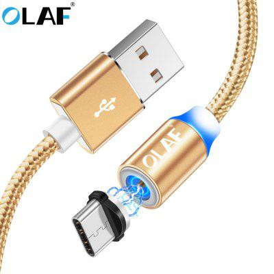 OLAF LED Nylon Type C Fast Charging For Xiaomi Samsung Huawei Magnetic Charger Cable