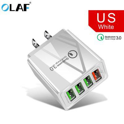 OLAF  3.0 USB Charger QC3.0 Fast Charging Mobile Phone Charger for iPhone Samsung Xiaomi mi note 10