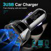 OLAF Car Charger Quick Charging 3.0 USB Fast Charger for Xiaomi iPhone Huawei Samsung