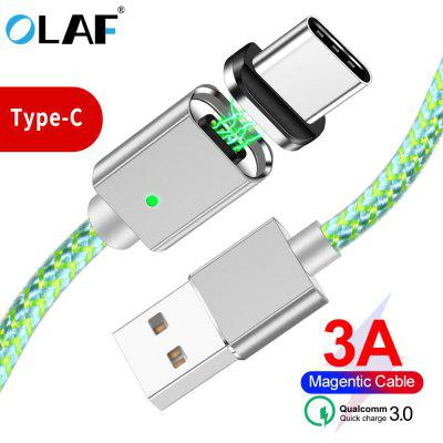 OLAF 1M Magnetic USB Cable Fast Charging Magnet Plug Type C Micro USB For Samsung Xiaomi iPhone