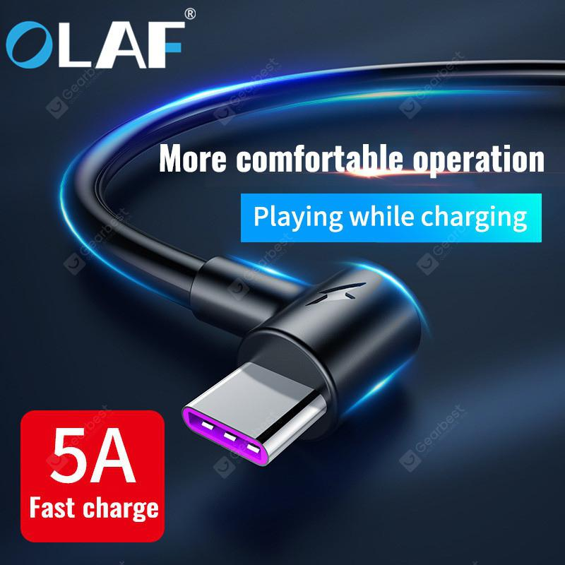 OLAF 5A Super Fast Charging Type C Elbow Game USB Cable Charger For Huawei  P20 P30 Pro Samsung