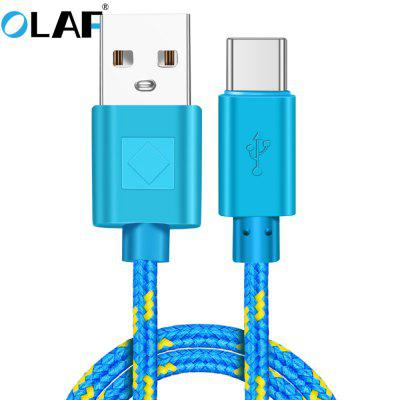 OLAF Type C Nylon Data Cable Fast Charging USB Charger Cord For Samsung Huawei Xiaomi