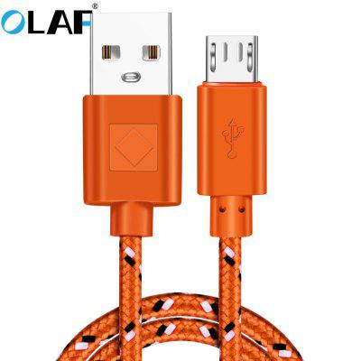 OLAF Micro USB Nylon Data Cable Fast Charging USB Charger Cord For Samsung Huawei Xiaomi