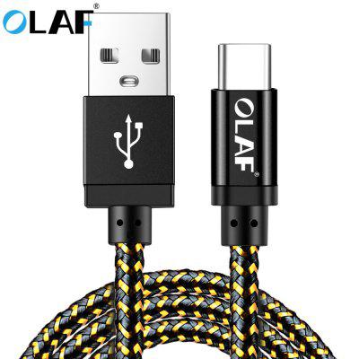 OLAF Type C Data Cable Fast Charging For Samsung Huawei Xiaomi LG Android Mobile USB Charger Cord