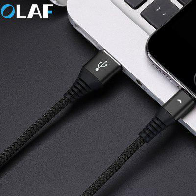 OLAF 2.4A USB Cable LED Lighting Fast Charging Micro USB Type C For IphoneX XS XR Samsung S8 Xiaomi