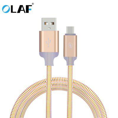 OLAF Micro USB Type C Spiral Lighting Cable Fast Charging USB Cable For Samsung Xiaomi IphoneX XS XR