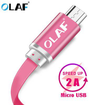 OLAF 2A Micro USB Cable Fast Charging Flat Date Quick Line For Samsung S8 S9 Huawei P20 Xiaomi
