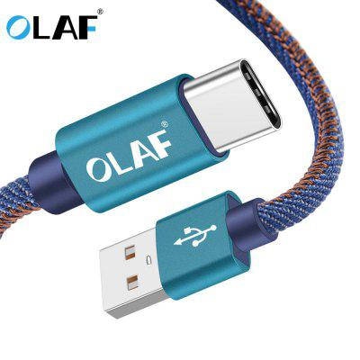 OLAF USB Type-C Cable Fast Charge Data Cable for Iphone X Samsung Galaxy S8 Note 9 Huawei Mate 20
