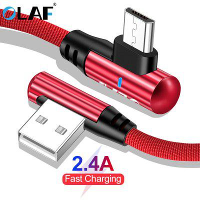 OLAF 2.4A Cotton Type C USB Cable 90 Degree Fast Charging Date Charger For Samsung S8 S9 Huawei Mate