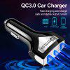 OLAF QC3.0 Dual USB Car Charger Quick Charge Mobile Phone Chargers Fast Charge For iPhone Samsung