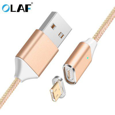 OLAF Magnetic Cable Nylon Lighting Micro USB Cable Fast Charging For Andriod Samsung Xiaomi Huawei