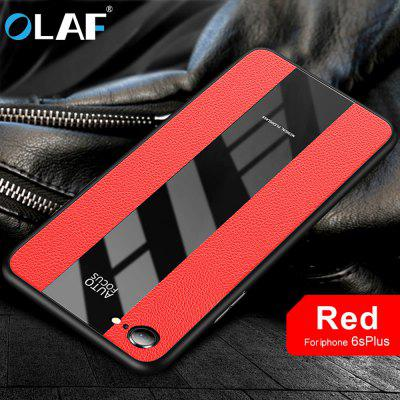 OLAF Phone Case Thin Protection Luxury Glass PU Cover Case for Iphone 6 6s plus 7 8 plus X XS XR MAX