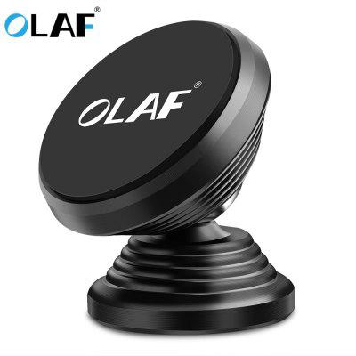 OLAF Magnetic Car Phone Holder 360 Rotation Bracket Screw Thread Stand For Phone Samsung Huawei