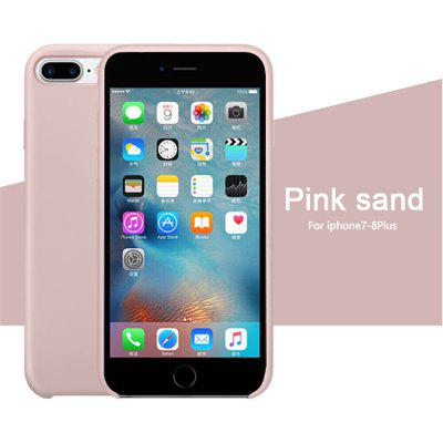 OLAF Original Solid Silicone Thin Soft for iPhone Case for iphone 7 plus 8 plus Candy Colorful Logo